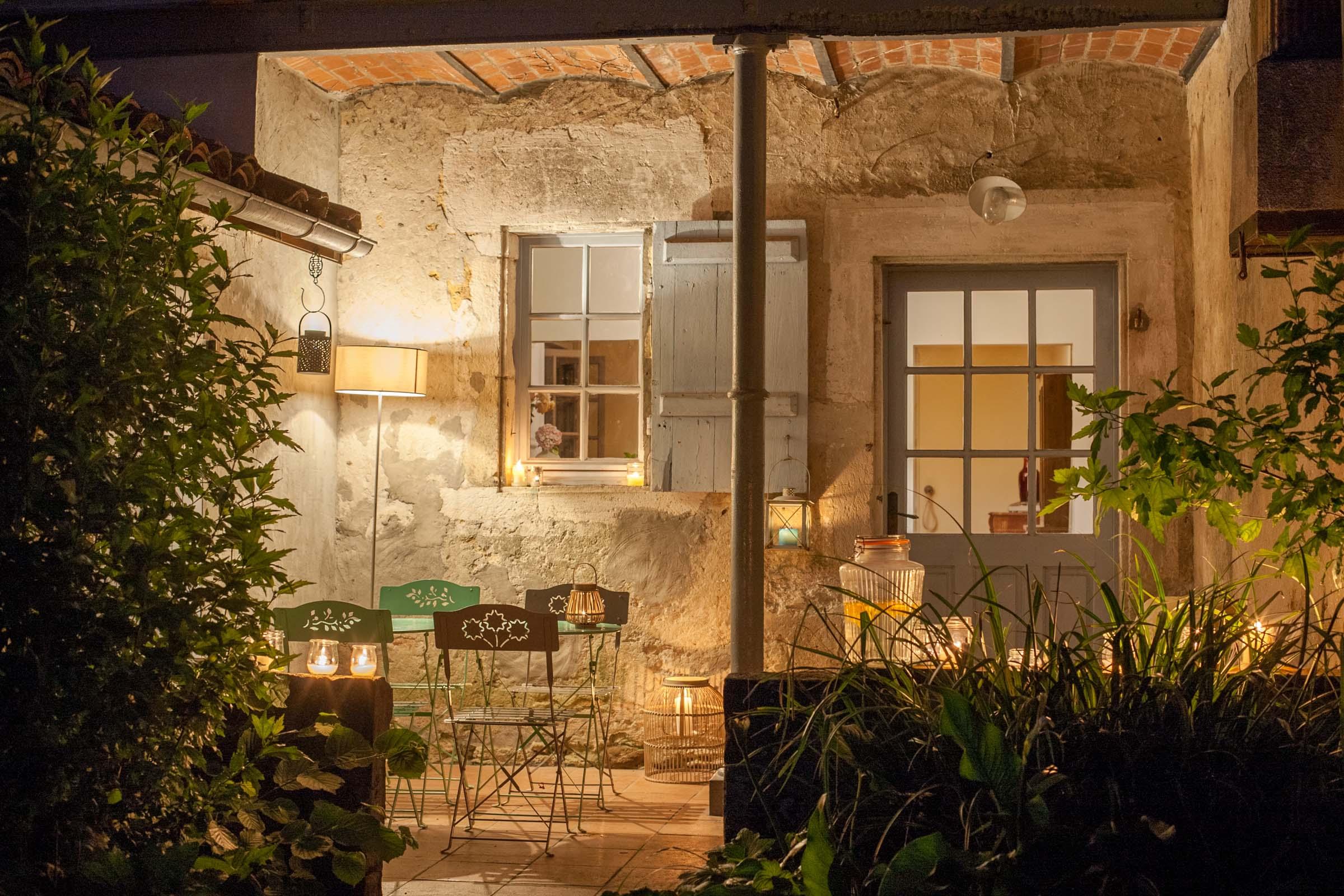 terrasse de nuit Maison Arriù