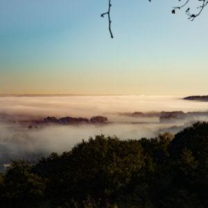 Montaut - Lever de soleil d'hiver sur la plaine vue du Motta